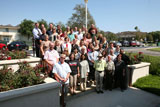 Academic Senate 2012-2013 gathered on the steps of the MVS Decision Center.